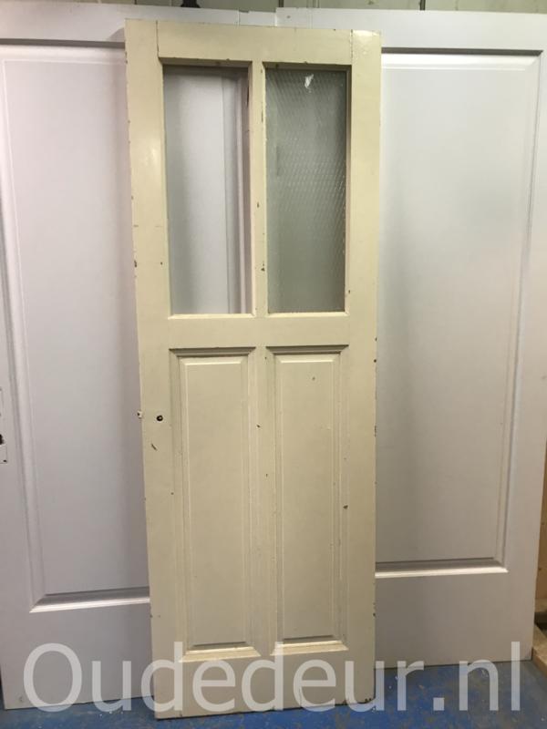 nr. 13f antiek deur met twee glas vakken