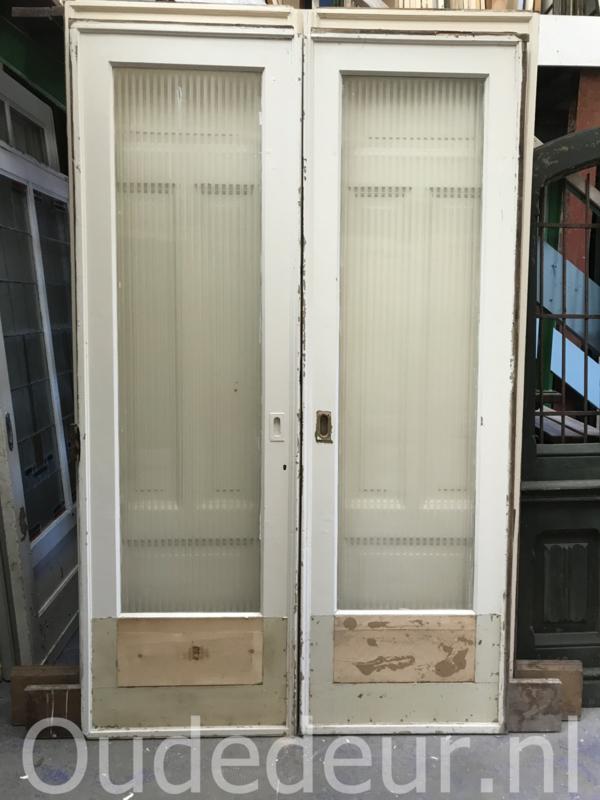 nr. e288 stel ensutie deuren met canale glas
