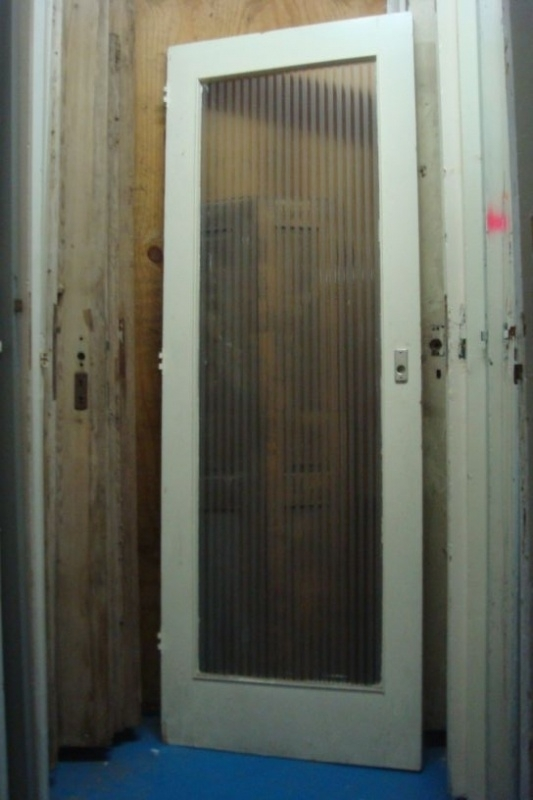 nr. 215 oude deuren met grote ruit (meerdere stuks)