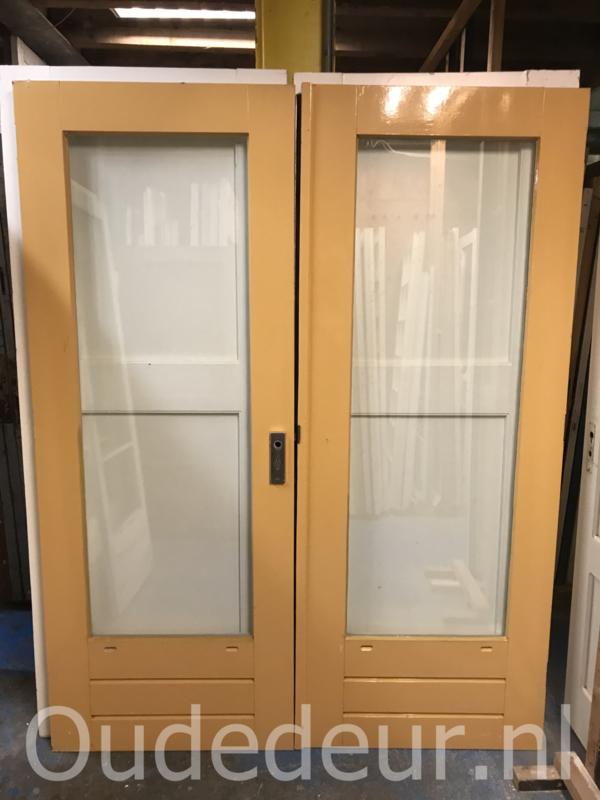 nr. set716 set hardhouten deuren met dubbel glas