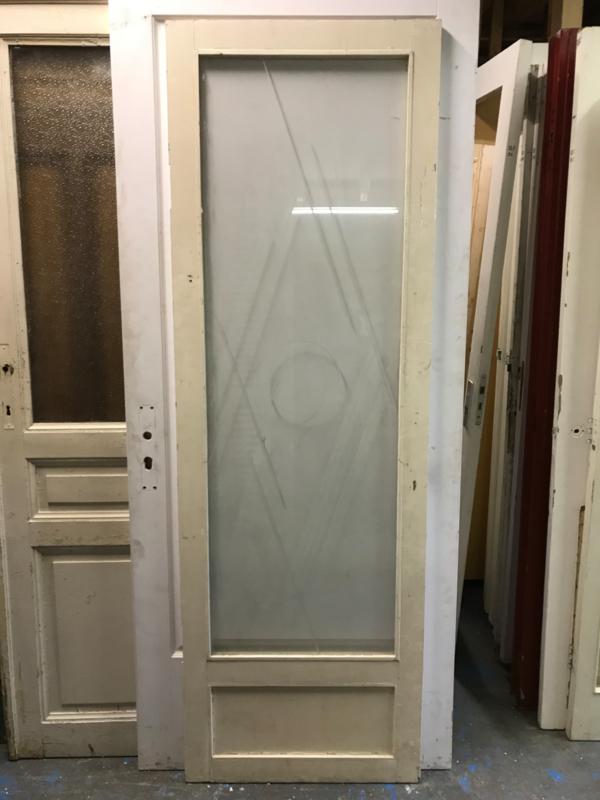 nr. 2231 glas deur met gegraveerd glas