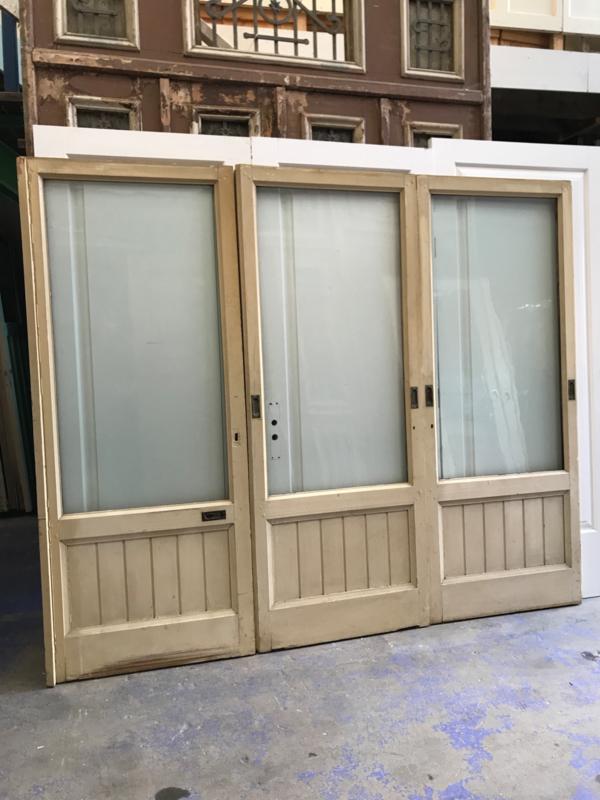 nr. e149 set van 3 ensuite deuren met glas