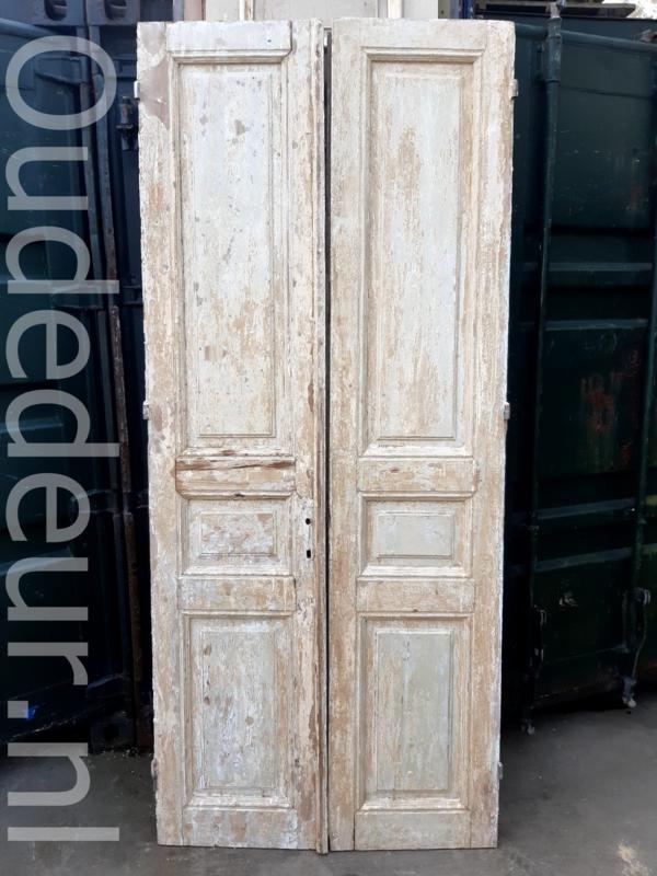 nr.  set918 stel antieke deur half geloogd