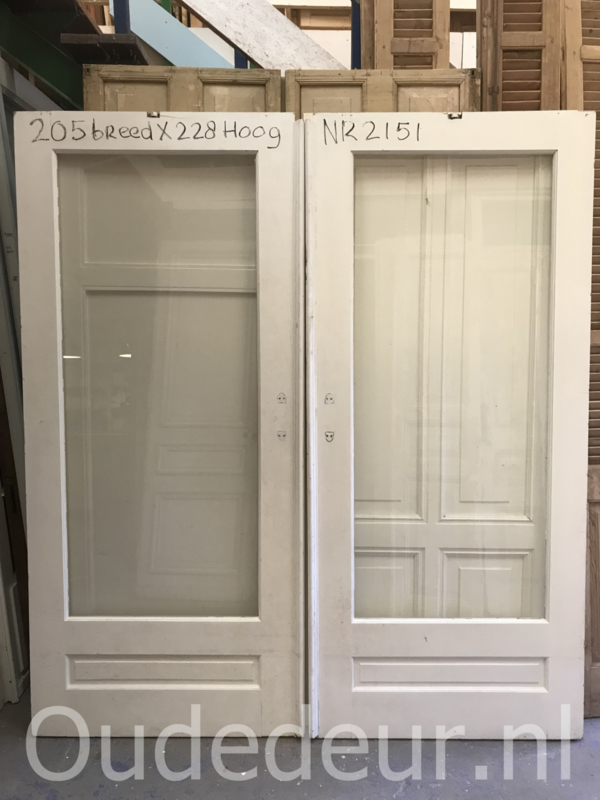 nr. e268 set erg brede ensuite deuren