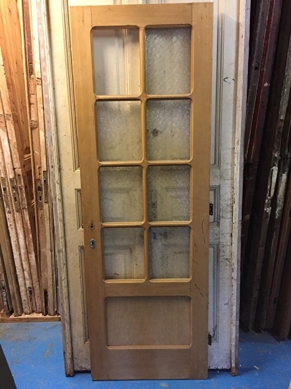 nr. 2159 oude geloogde paneeldeur met ruitjes