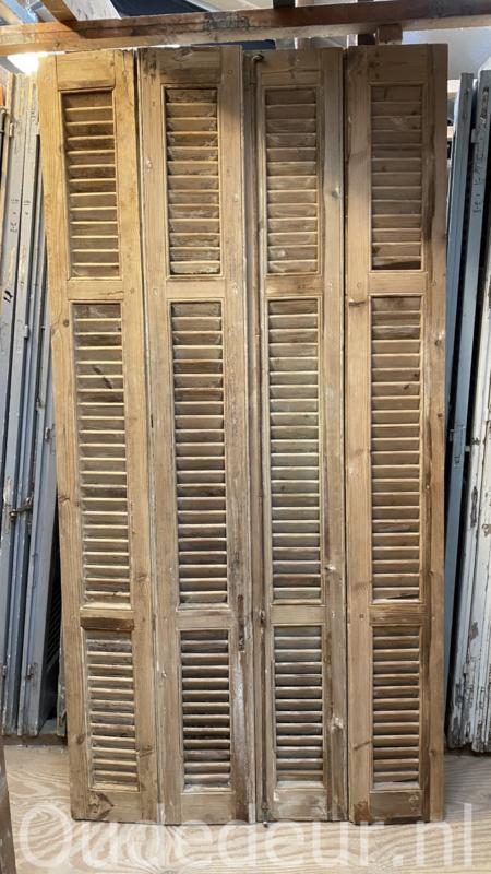 nr. L65 serie oude geloogde louvre deuren, 26 stusks