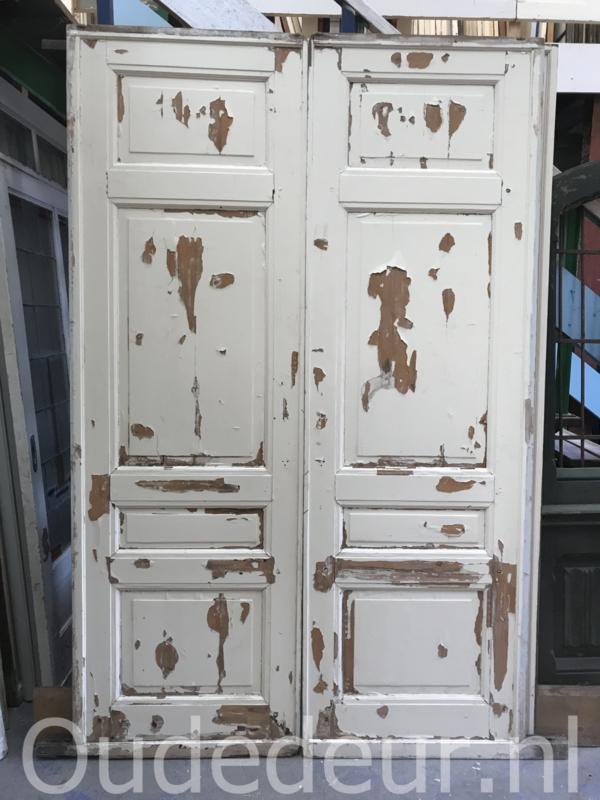 nr. e282 stel dichte antieke ensuite deuren