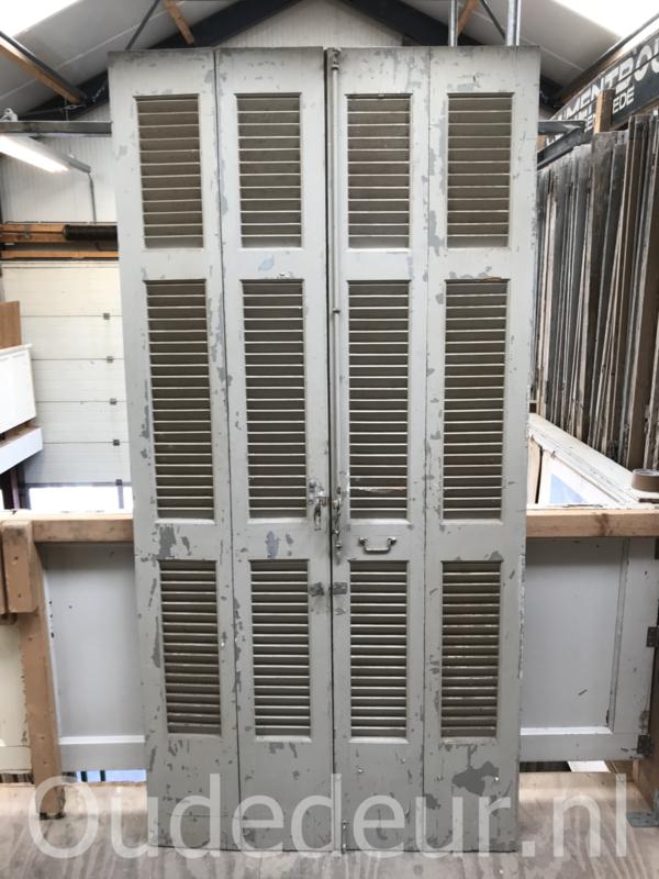 nr. L373 4 witte oude louvre deuren