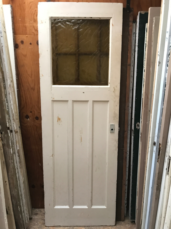 Nr. 21b jaren 30 deur met 3 staande panelen