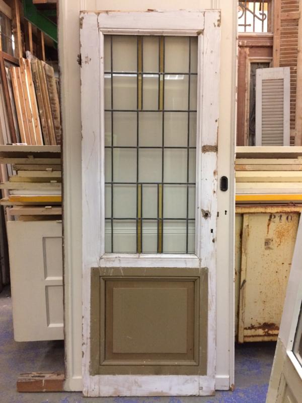 nr. gl4 antieke deur nieuw glas in lood