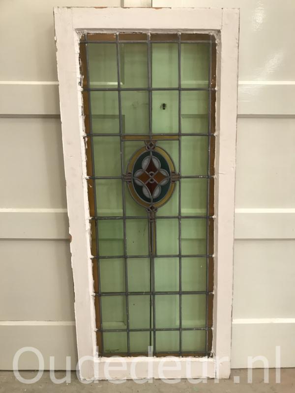 nr. GL418 antiek glas in lood raam