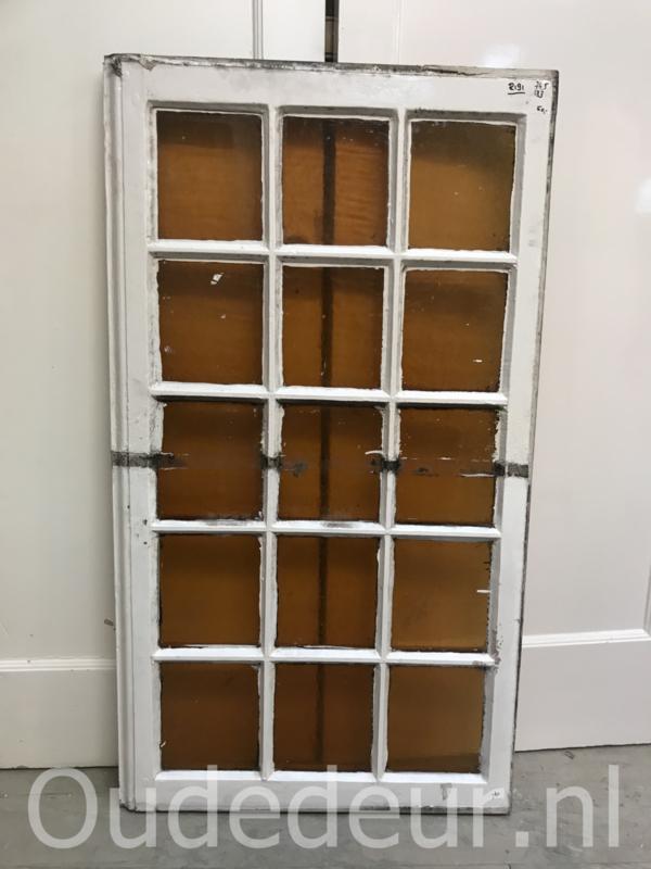 nr. r191 raam met geel glas
