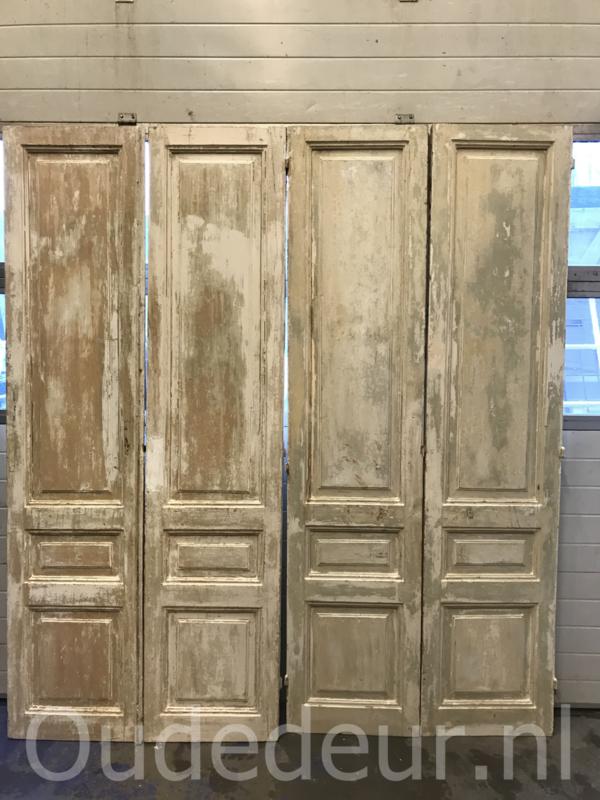 nr. set697 10 gelijke sets antieke deuren half geloogd