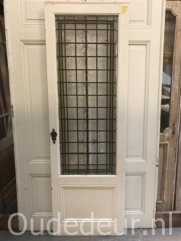 nr. gl360 hoge glas in lood deur