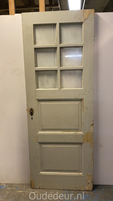 nr. 1486 oude paneeldeur met ruitjes