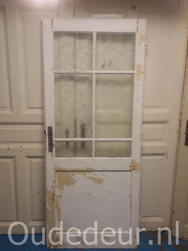 nr. 1309 antieke deur met glas