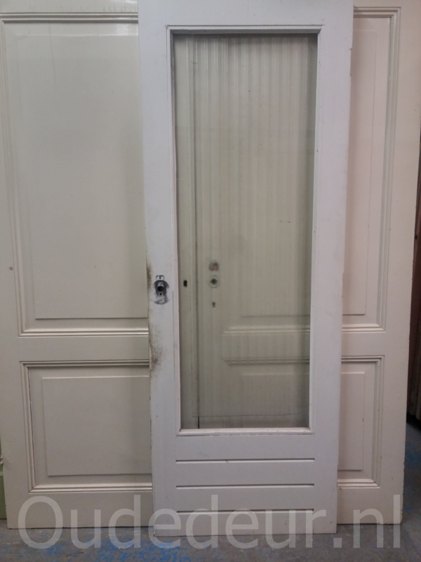 nr. a87 hardhouten schuurdeur/ achterdeur