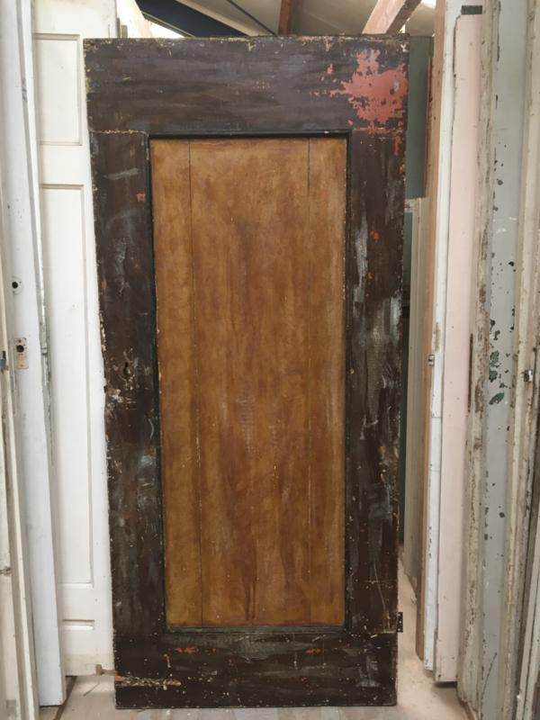 nr. 4104 antieke opgeklampte deur (loftdeur)