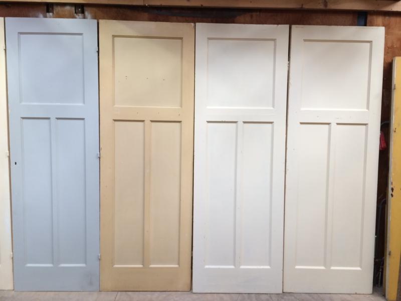 nr. 86 oude paneeldeuren met 3 vakken (meerdere stuks)