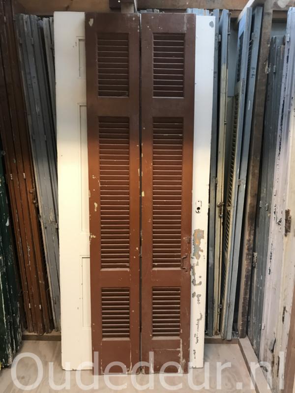nr. L36 set bruine louvre deuren