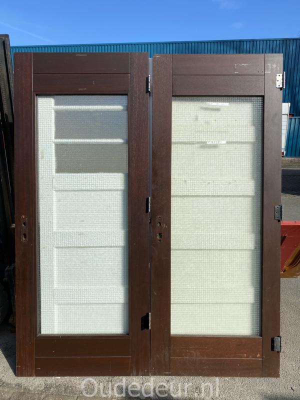 nr. a190 hardhouten deuren met draadglas