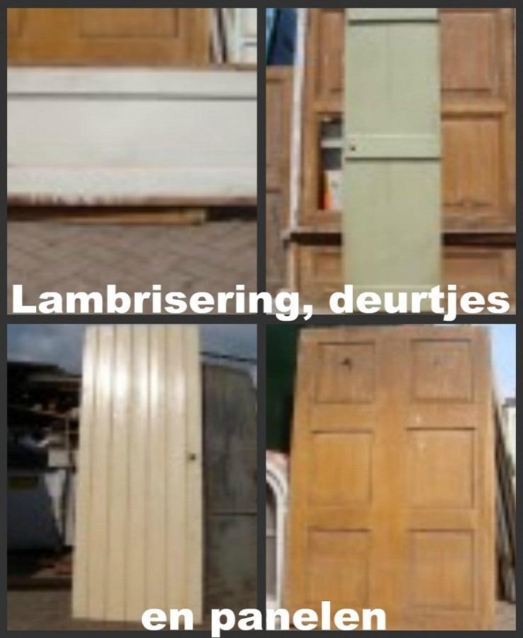 lambrisering, opgeklampte deuren