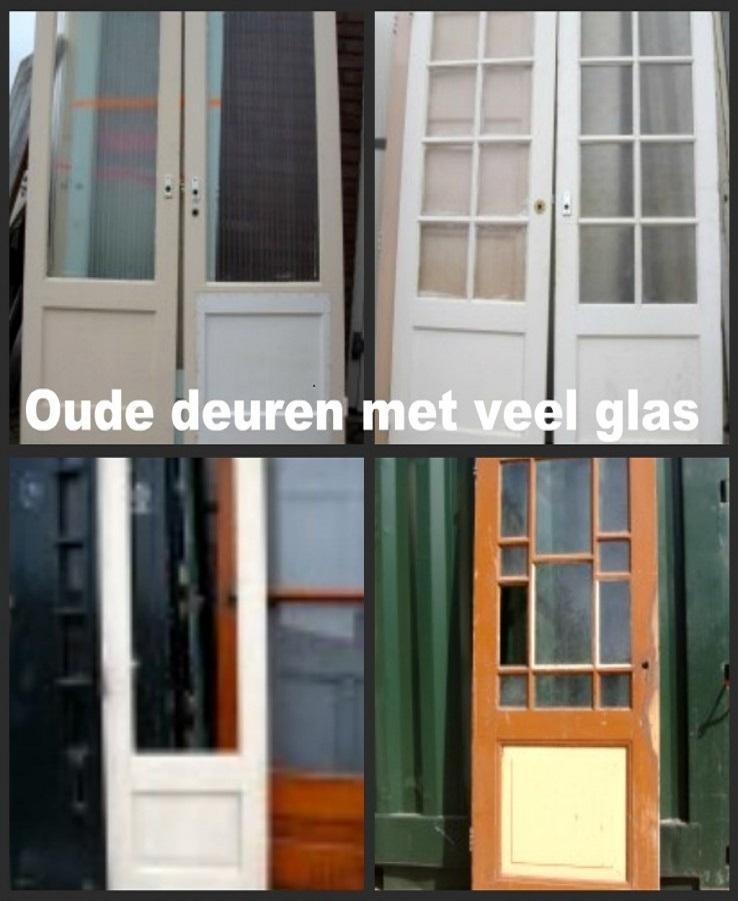 oude deuren met glas