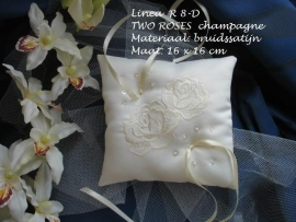 Ringkussen Lin  R 8D  champagne- champagne  NIEUW!!