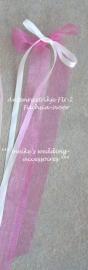 Antennestrikje  FU-2  ivoor-organza  2 lintjes