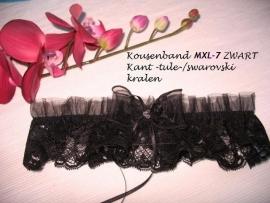 Kouseband  MXL - 7  Zwart  NIEUW !! mt 56-62