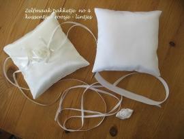 Zelfmaak-pakketje  no 4   12 x 12 cm  satijn   12-70 (u-3)