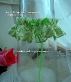 Kousenband Gro-4  lichtgroen - limegroen  NIEUW !! met sleutel-bedel
