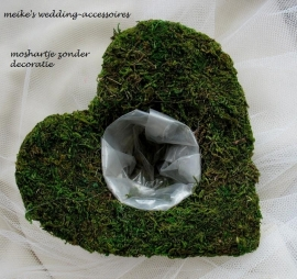 Moshartje om op te maken met zijde- of verse bloemen