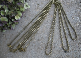 Lange bolletjes ketting - goudkleurig