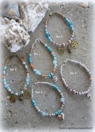 Goudkleurige turquoise Ibiza armbandje