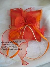Ringkussen Rembo 40  oranje-rood  NIEUW!!