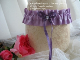 Kouseband PR-9  Lila met paars strikje