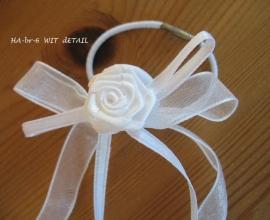 haar-accessoireHA-br-6   voor bruidsmeisje wit  met elastiekje