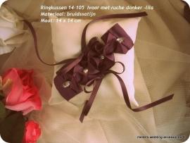 Ringkussen 14-105  ivoor donker lila