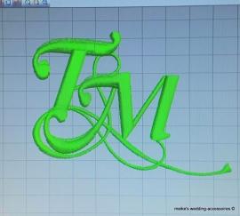 Borduurpatroon eigen logo/ eigen afbeelding