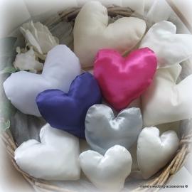 ringkussentje hartje , satijn, zonder doorstiksel, in diverse kleuren. (u-2) Prijs vanaf