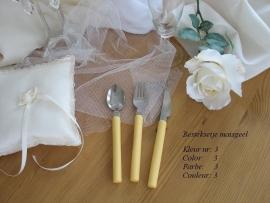 besteksetje voor bijv. bruidstaart/feestje  no 3  maisgeel
