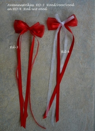 Antennestrikjes Rd-3  en Rd-4  Rood en rood/wit