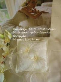 Ringkussen 14-71  champagne  NIEUW!!