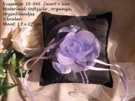 Ringkussen 16-86 E  zwart - lila  NIEUW !!