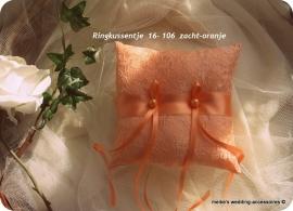 Ringkussen 16-106  zacht-oranje