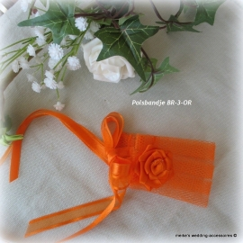 Polsbandje voor bruidsmeisje  BRM-4-OR  met tule