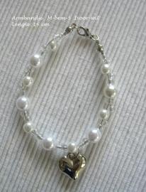 Armbandje  voor bruidsmeisje M-brm-5  Ivoor-wit