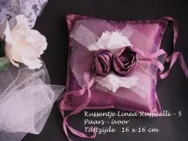Ringkussen Lin R  5 paars - ivoor  NIEUW !!