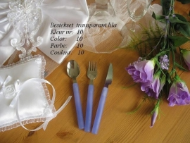 besteksetjes  voor bijv bruidstart/feestje no 10  transparant lila